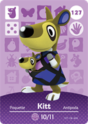 Amiibo Cards Animal Crossing Series 2 Kitt