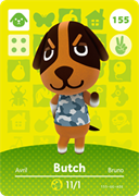 Amiibo Cards Animal Crossing Series 2 Butch