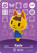 Amiibo Cards Animal Crossing Series 2 Katie