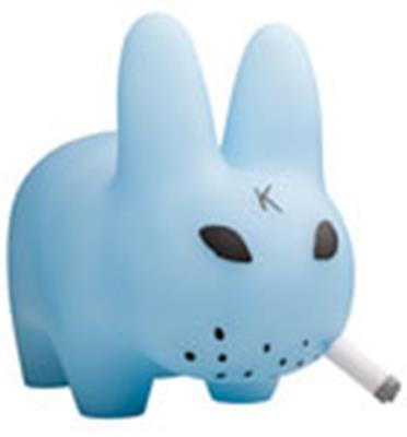 Kid Robot Labbits Clear Blue Stock