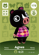 Amiibo Cards Animal Crossing Series 2 Agnes