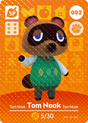 Amiibo Cards Animal Crossing Series 1 Tom Nook
