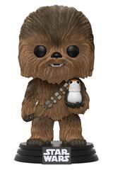 Chewbacca (w/ Porg) (Flocked)