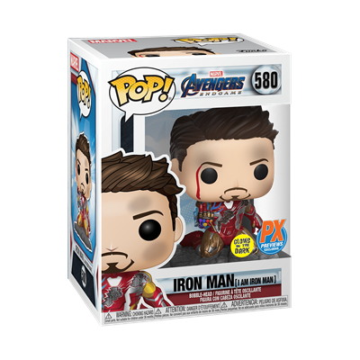 Funko Pop! Marvel Iron man (I Am Iron Man) (Metallic) (Glows in the Dark) Stock