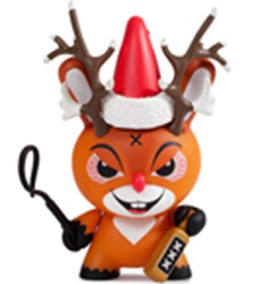 Kid Robot Special Edition Dunny Rise of Rudolph Stock