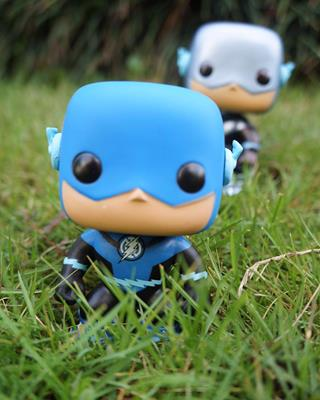 Funko Pop! Heroes The Flash (Blue Lantern) (Metallic) funkocommander on tumblr.com