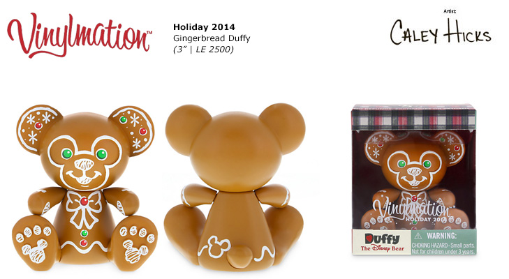 Vinylmation Open And Misc Duffy Bear 2014 Holiday Duffy