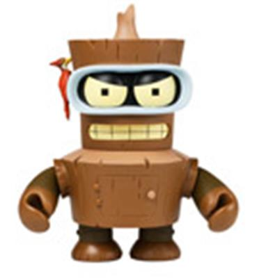 Kid Robot Art Figures Wooden Bender Icon