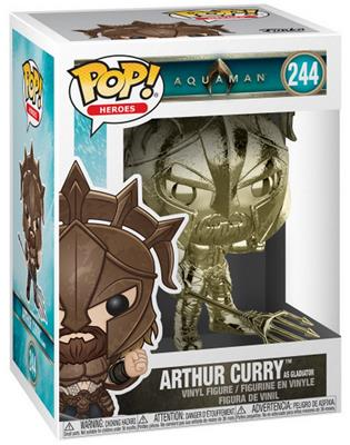 Funko Pop! Heroes Arthur Curry (Gladiator) - Gold Stock