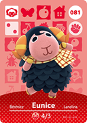 Amiibo Cards Animal Crossing Series 1 Eunice