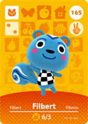Amiibo Cards Animal Crossing Series 2 Filbert