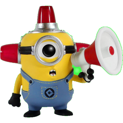Funko Pop! Movies Minion (Fire Alarm) - Glow