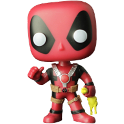 Funko Pop! Marvel Deadpool (w/ Rubber Chicken)