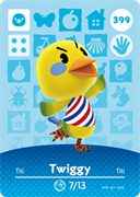 Amiibo Cards Animal Crossing Series 4 Twiggy