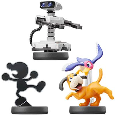 Amiibo Super Smash Bros. R.O.B., Mr. Game and Watch, Duck Hunt (3-Pack)