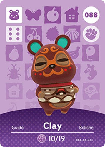 Amiibo Cards Animal Crossing Series 1 Clay Icon