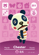 Amiibo Cards Animal Crossing Series 3 Chester