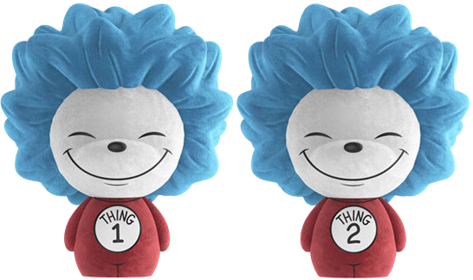 Dorbz Dr. Seuss Thing 1 & Thing 2 (Flocked) Icon