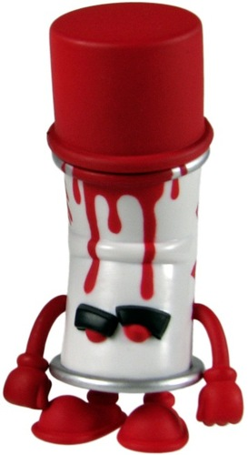 Kid Robot Blind Boxes Bent World Spray Can Red (Spent)