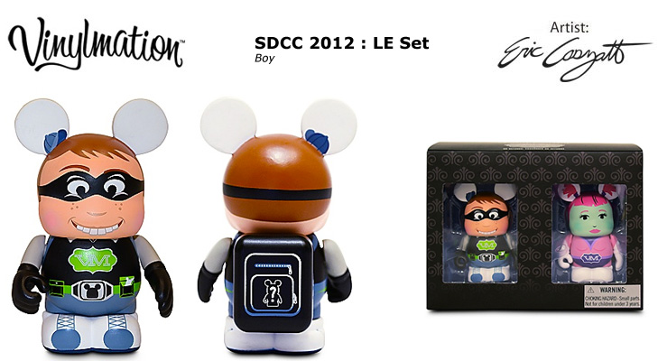 Vinylmation Open And Misc SDCC 2012 Boy