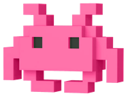 Funko Pop! 8-Bit Medium Invader (Pink)