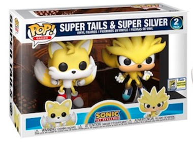 Funko Pop! Games Super Tails & Super Silver (2 Pack) Stock