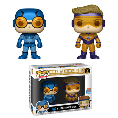 Funko Pop! Heroes Booster Gold and Blue Beetle Stock