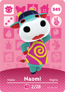 Amiibo Cards Animal Crossing Series 4 Naomi