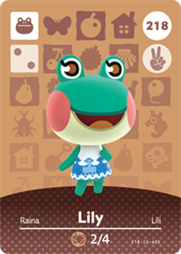 Amiibo Cards Animal Crossing Series 3 Lily