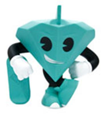 "Kid Robot Art Figures Tiffany 3"" Icon"