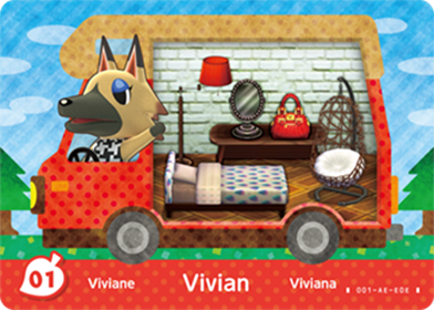 Amiibo Cards Welcome amiibo Vivian Stock