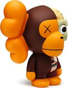 KAWS Sculptures Baby Milo Dissected Brown