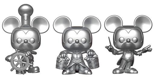 Funko Pop! Disney Mickey Mouse Metallic 3 Pack