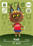 Amiibo Cards Animal Crossing Series 4 Katt