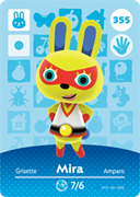 Amiibo Cards Animal Crossing Series 4 Mira
