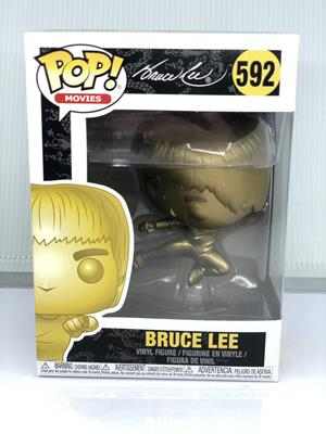 Funko Pop! Movies Bruce Lee (Flying Kick) - GOLD Stock