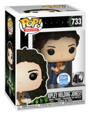 Funko Pop! Movies Ripley Holding Jonesy Stock