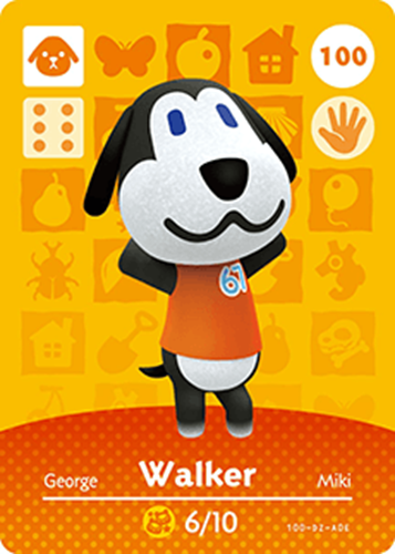 Amiibo Cards Animal Crossing Series 1 Walker