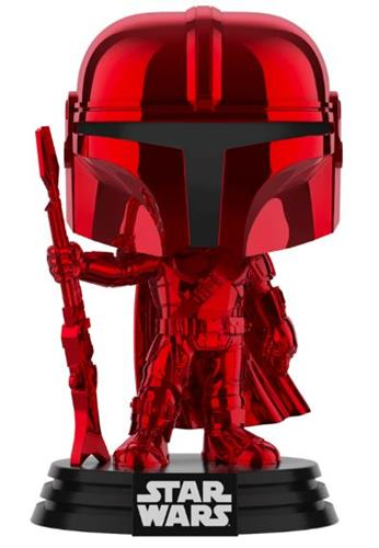 Funko Pop! Star Wars The Mandalorian (Red) (Chrome)