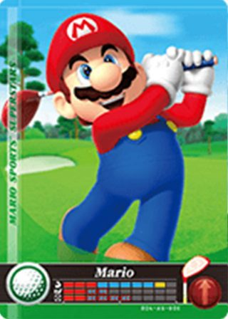 Amiibo Cards Mario Sports Superstars Mario - Golf Icon