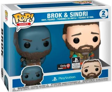 Funko Pop! Games Brok and Sindri (2 Pack) Stock