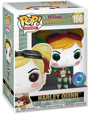 Funko Pop! Heroes Harley Quinn (Bombshell) - Holiday Stock