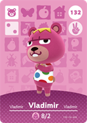 Amiibo Cards Animal Crossing Series 2 Vladimir