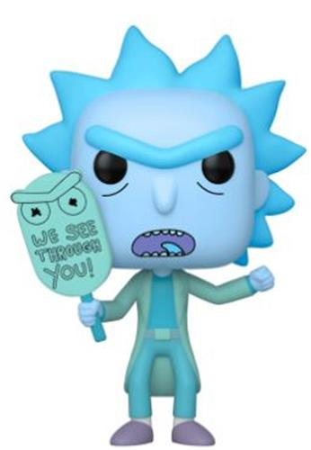 Funko Pop! Animation Hologram Rick Clone (Glow in the Dark)
