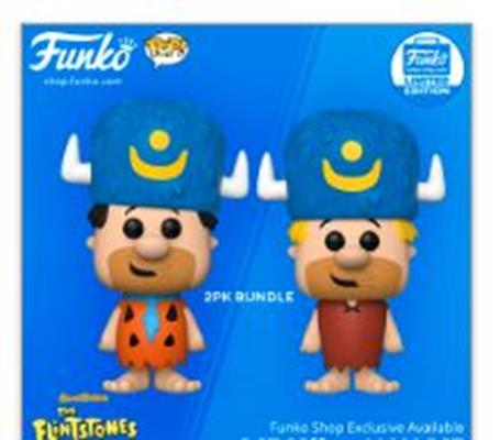 Funko Pop! Animation Fred Flinstone & Barney Rubble 2-Pack Bundle Stock Thumb