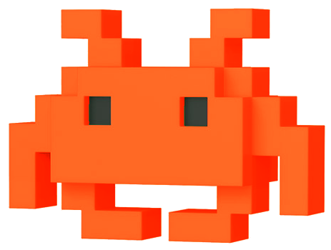 Funko Pop! 8-Bit Medium Invader (Orange)