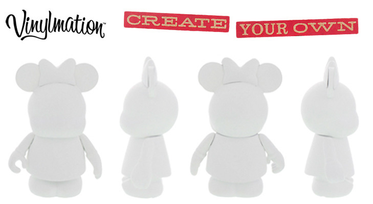 Vinylmation Open And Misc Create Your Own Minnie - white