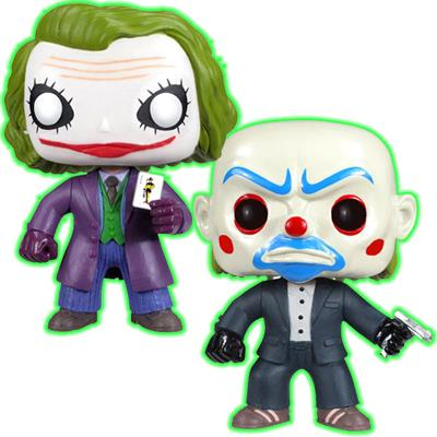 Funko Pop! Heroes The Joker & Bank Robber Joker (The Dark Knight) (Glow in the Dark) Icon