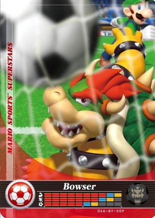 Amiibo Cards Mario Sports Superstars Bowser - Soccer Icon