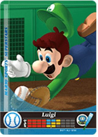 Amiibo Cards Mario Sports Superstars Luigi - Baseball Icon